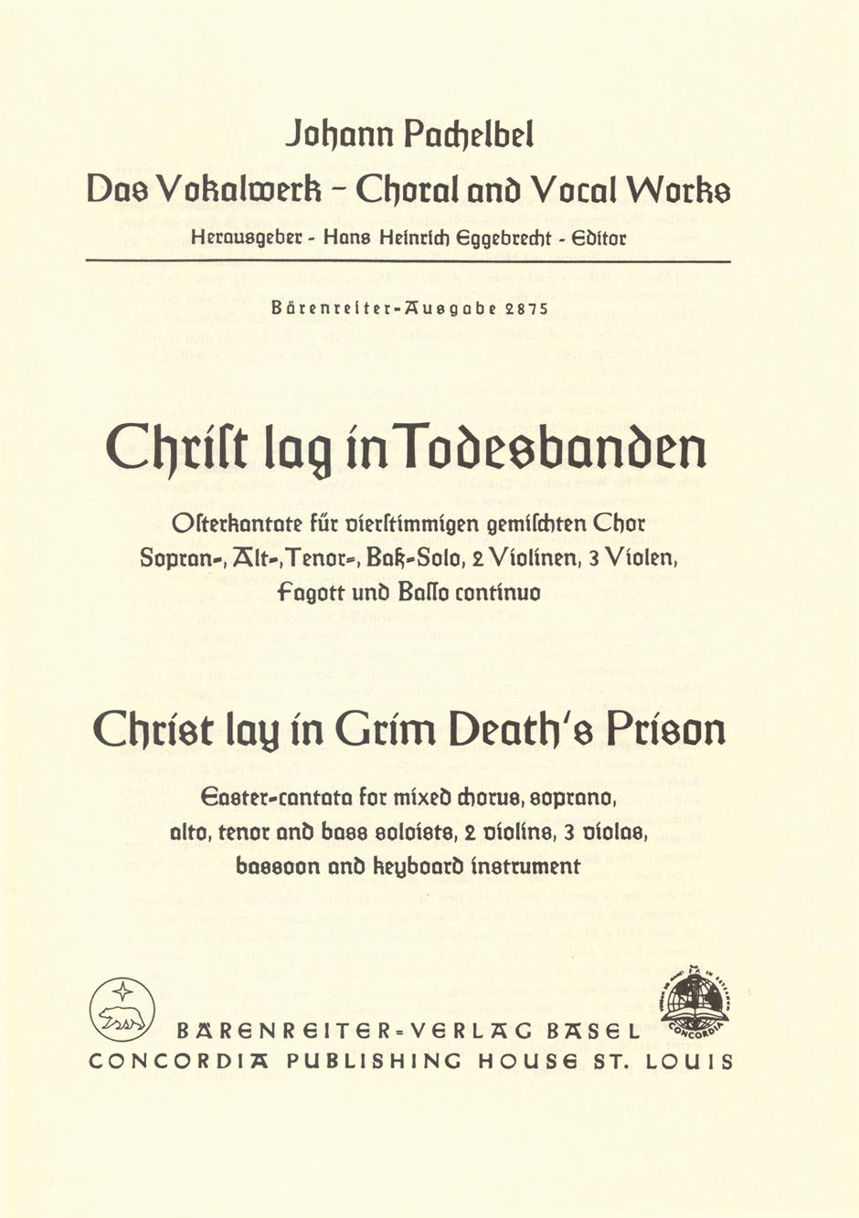 Christ lay in grim death's prison